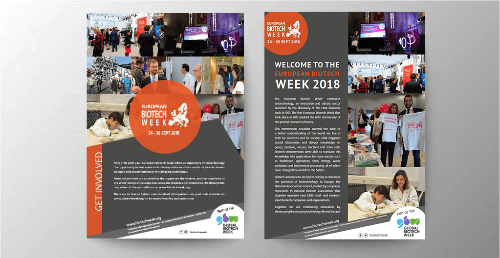 European Biotech Week flyers 2018 - Fastlane Communication Agency